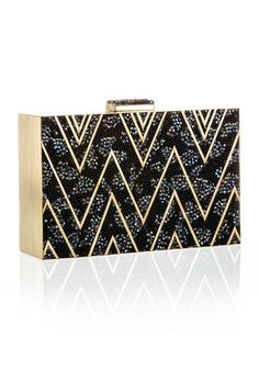 Emm Kuo black and gold clutch