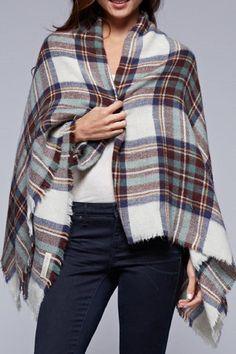 Vintage inspired over-sized plaid scarf - can be worn as a shawl or a wrap.   The Brit Blanket-Scarf by Lovestitch. Accessories - Scarves & Wraps Minneapolis, Minnesota