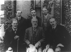 Carl Jung, Sigmund Freud and G. Stanley Hall in front of Clark University in Jung's First Visit to America, 1909