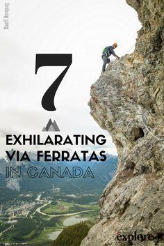 7 Exhilarating Via Ferratas in Canada via Explore Magazine. Image: Banff…
