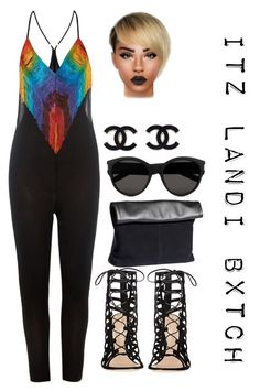 """""""Untitled #3714"""" by prettyassprince ❤ liked on Polyvore featuring moda, Gianvito Rossi, H&M i Yves Saint Laurent"""