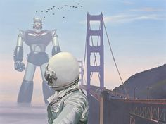 A Very Large Robot Painting by Scott Listfield.