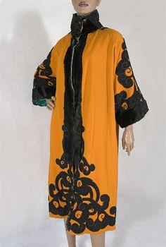Orientalism-inspired wool coat, c.1912.