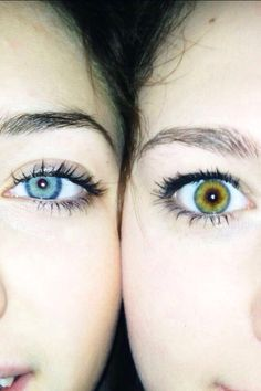 The hazel is my eye color and the blue is totally my cousins eye color but this isn't us.... lol