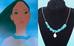 Pocahontas necklace: http://www.etsy.com/listing/91057126/mini-pocahontas-inspired-necklace-whats (By: lostlittlemermaid)