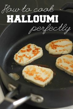 How to cook halloumi perfectly its easier than you might think! This method w How to cook halloumi perfectly its easier than you might think! This method will give you gooey slices of cheese with a wonderfully crispy crust. Halloumi Pasta, Cooking Halloumi, Haloumi Cheese, Grilled Halloumi, Greek Recipes, Low Carb Recipes, Vegetarian Recipes, Cooking Recipes, Cooking Pork