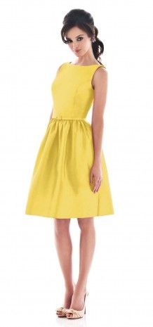 Daffodil Simple Bateau Neck Short Bridesmaid Dress G133 $60.00