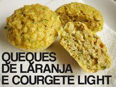 Queques de Laranja e Courgete Light