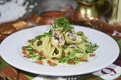 Kulinarne  pyszności  Molki: Ravioli z tuńczykiem z lekkim sosem ziołowym