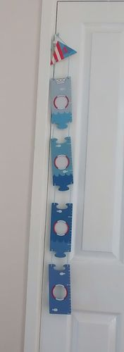 Gisela Graham Nautical / Sailor / boat boys picture frame height chart | eBay
