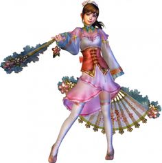 Xiao Qiao from Dynasty Warriors 6. I think the fan would be the hardest part.