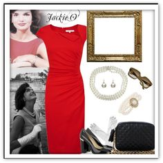 Jackie O Style | jackie o. style | The dress in a deep burgundy instead of tomato red for me :)