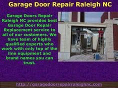 Are you worried from your broken garage door,don't panic anymore we have all solution for you.Just click on the link for instant help. www.//goo.gl/wDjXd9  #GarageDoorRepairRaleigh