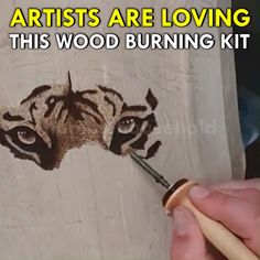 Learn WoodBurning Easier Than Ever! is part of Pyrography - Learn WoodBurning Easier Than Ever! Whether you're just getting into pyrography or have been bur Wood Burning Kits, Wood Burning Crafts, Wood Burning Patterns, Wood Crafts, Fun Crafts, Diy And Crafts, Arts And Crafts, Wood Projects, Woodworking Projects