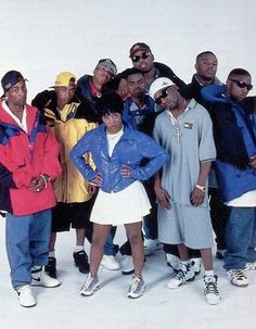 """Junior M.A.F.I.A. (Masters At Finding Intelligent Attitudes), hip hop group. Formed & mentored by The Notorious B.I.G., the group released hits Get Money (& its remix Gettin' Money), Player's Anthem, & I Need You Tonight. Their success helped launch the career of Lil' Kim as a solo artist. After the death of the Notorious B.I.G., the crew became defunct. In 2005, Lil' Cease & Larceny testified against Lil' Kim during a perjury trial, sending her to jail; she has labeled the pair """"snitches""""."""