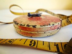 vintage cloth tape measure by Lufkin 50ft  available at AtticAntics, $15.00