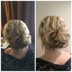 Hair by michelle . Wedding updo / hair