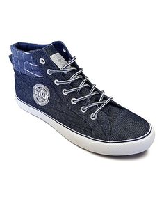 Blue Denim Hi-Top Sneaker #zulily #zulilyfinds