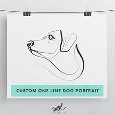 Custom Dog Pet Portrait With One Line Personalized Art