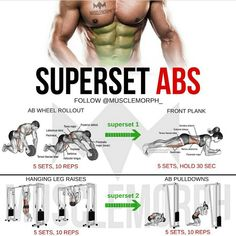 abs 6 pack six pack superset workout exercise shredded body… musclemorphsupps…. abs 6 pack six pack superset workout exercise shredded bodybuilding gym muscle Super Set Workouts, Easy Workouts, At Home Workouts, Bodybuilding, Leg Raises Abs, Chest And Arm Workout, Outdoor Workout, Ab Routine, Super Sets