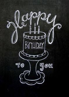 Birthday Chalkboard poster by TheBlackandWhiteShop on Etsy