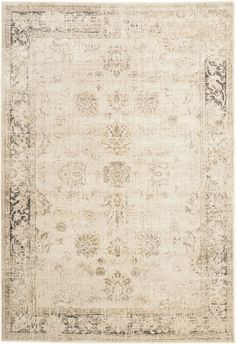 Step back in time with this romantic shabby chic Vintage Medallion rug by Safavieh. Though its Tabriz medallion motif is ages old, this pretty warm taupe cut pile viscose rug is crafted with a striated worn patina that looks vintage but is totally...