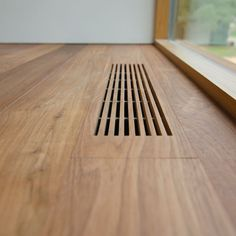 Idea for wood floor vents. Take extra pieces and make vents to match the flooring. Wood Architecture, Architecture Details, Interior Minimalista, Home Projects, Interior And Exterior, House Plans, House Ideas, New Homes, Woodworking