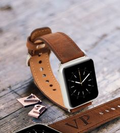 Mens Gift for Men Personalized Boyfriend Gift Husband Gift Apple Watch Band Wedding gift Tech Dad Gift Leather Watch Band Apple Watch Strap by barvaleather on Etsy https://www.etsy.com/listing/259301943/mens-gift-for-men-personalized-boyfriend