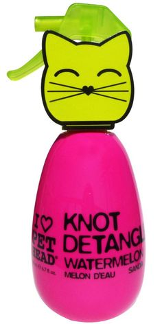 Get rid of those nasty tangles quick! PetHead Knot Detangler Watermelon, available on www.OurPamperedHome.com