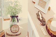 Detalles con rodajitas de madera
