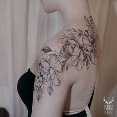 Black and White Rose Tattoo. 30+ Beautiful Flower Tattoo Designs.