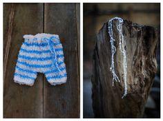 Knit Newborn Pants and headband/ Baby boy by GabriCollection