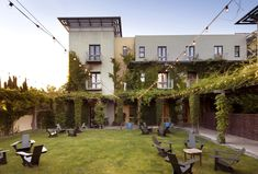 Hotel Healdsburg with some great string lights over their outdoor event space…