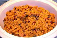 Puerto Rican Red Beans and Rice. Photo by neaglesvm