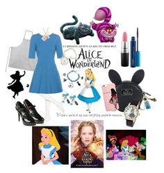 """Alice in Wonderland"" by allyssister ❤ liked on Polyvore featuring Hue, The White Company, Dolce&Gabbana, Disney, MAC Cosmetics and modern"