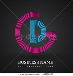 Letter DG or GD linked logo design circle G shape. Elegant red and blue colored letter symbol. Vector logo design template elements for company identity. - stock vector