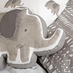 Wild Excursion Elephant Throw Pillow | The Land of Nod
