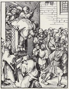 Artist: Cranach d. Ä., Lucas, Title: »Martyrium der zwölf Apostel«, Hl. Jakobus d.J., Date: ca. 1512