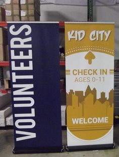 Mobile Churches need large type or large banners to aid hospitality team.