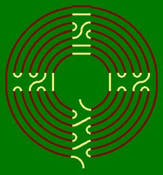 Labyrinth design from concentric circles...stay on the line.