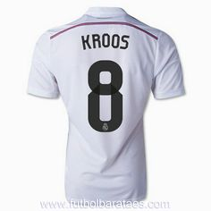 Men s 2014 15 Real Madrid Toni Kroos 8 White Home Soccer Jersey (US Size f6ede7afb0fd5