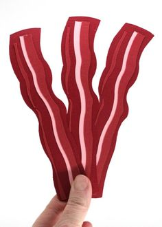 Free Bacon Bookmark SVG Cut Files from @bitsandpiecespaperlab Fat free and super cute bacon lover gift.