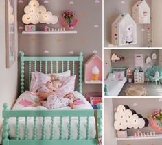 Sorbet coloured girls bedroom