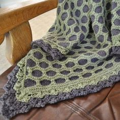 Knit Kit ~ Nettle Honeycomb Lace Throw | Bessie MayNettles Honeycombs ...