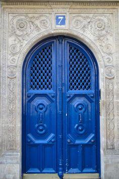 blue paris door