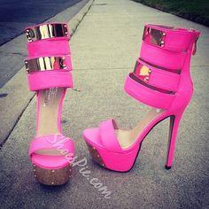 Remarkable Party Girl Contrast Color Platform Sandals