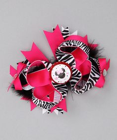 Zebra Minnie http://www.zulily.com/invite/jpalmer893/p/zebra-minnie-over-the-top-bow-24418-1229645.html?tid=referral_pinterestOver-the-Top Bow