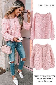 Knit Your Love Hand-Knitted collection featured by jenniferxlauren. Free Shippin… You are in the right place about Knitting stitches Here we offer you the most. Crochet Cardigan, Knit Crochet, Crochet Jacket, Mode Outfits, Fashion Outfits, Mode Crochet, Knit Fashion, Crochet Clothes, Unique Fashion