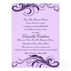 Quinceanera invitation wording template best template collection purple quinceanera invitations prpura invitaciones de quinceanera quinceanera invitations purple stopboris Image collections