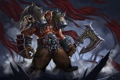 Warcraft Orc, Wow Of Warcraft, World Of Warcraft Game, Grom Hellscream, Garrosh Hellscream, World Of Warcraft Wallpaper, Blizzard Warcraft, Dual Monitor Wallpaper, Illidan Stormrage